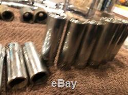 12 Pc Snap-On Metric 6-Point Deep Well 3/8 Drive Socket Set 8-19mm