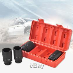 12 Point 4 1/2 Drive Deep Spindle Axle Nut Socket Set 30mm 32mm 34mm 36mm New