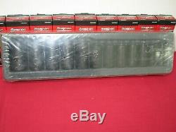 12 pc 1/2 Drive 6-Point MM Flank Drive Semi-Deep Impact Socket Set By SNAP-ON