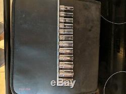 12 pc 3/8 Drive 6-Point Metric Flank Drive Semi-Deep Socket Set 8-19