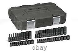 48 Pc. 1/4 Drive 6 Point SAE/Metric, Standard & Deep Impact Socket Set New