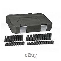 48pc GearWrench 1/4 Drive 6 Point Standard & Deep Impact SAE Socket Set 84902