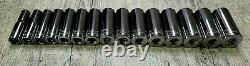 Blue Point By Snap On New 3/8 Drive Chrome Deep Metric Socket Set 10mm 24mm