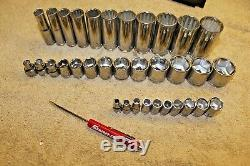 Blue point 3/8 & 1/4 Drive Deep and shallow lot of 3 Sockets Set 34PC
