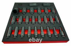 Britool Hallmark 1/2in Drive 25 Piece 6 Point Deep Impact Socket Set 8 36mm