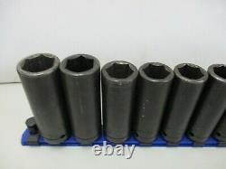 Cornwell 14 Pc PM32 1/2 Drive 6 Point Metric 24mm 10mm Deep Impact Socket Set