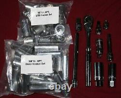 Craftsman 61pc SAE MM Metric Standard & Deep 52 Socket Set 3/8 Drive 6-Point NEW
