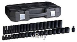 GEARWRENCH 39 Pc. 1/2 Drive 6 Point SAEStandard and Deep Impact KD84947N