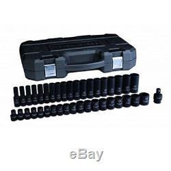 GearWrench 39 Pc 1/2 Drive 6 Point MetricStandard/Deep Impact Socket Set 84948N