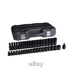 GearWrench 39-piece 1/2-Inch Drive 6-point Metric Impact Standard/Deep Socket Se