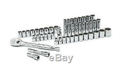 GearWrench 80700D 49 Piece 1/2-In. Drive 6 Point Std/Deep SAE/Metric Socket Set