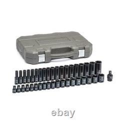 GearWrench Deep Impact Socket Set 1/2 Inch Drive 6 Point Metric Standard 39 Pcs