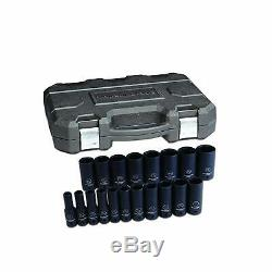 Gearwrench 84934N 19 Piece 1/2 Drive 6 Point Sae Deep Impact Socket Set