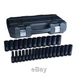 Gearwrench 84935N 29 Pc. 1/2 Drive 6 Point Metric Deep Impact Socket Set