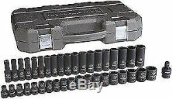 Gearwrench 84948N 39 Pc 1/2 Drive 6 Point Metric Standard And Deep NEW