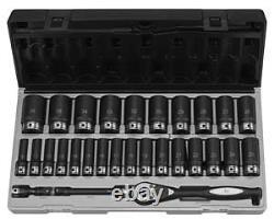 Grey Pneumatic 82229Md 1/2 Drive 12 Point 29 Piece Metric Deep Duo Socket Set