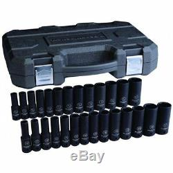 Kd Tools 84949N 27 Piece 1/2 Drive 6 Point Sae/metric Deep Impact Socket Set