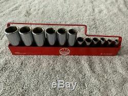 MAC TOOLS 3/8 DRIVE DEEP SAE 6-POINT SOCKET SET 12 pieces