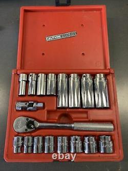 MAC Tools 3/8 Drive Socket Set 6 Point Shallow & Deep XR8 Ratchet