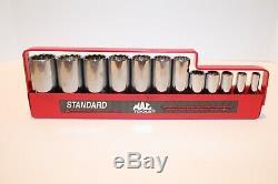 MAC Tools Standard SAE 12pc Deep Socket Set 3/8 Drive 12 point 1/4-15/16