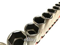 MATCO TOOLS 1/2 drive 12 piece SAE 6 point deep socket set. A09