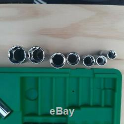 MINT SK S-K Tools 94520 18 Piece 3/8 Drive 6 Point Deep Shallow SAE Socket Set