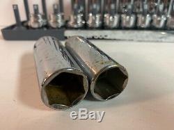 Mac 20 Pc 3/8 Drive Metric Shallow & Deep 6 Point Socket Lot Tray