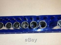 Made in USA Craftsman 12 Point Socket Set 1/2 Drive 12 pc Metric Deep G2 K2 GK