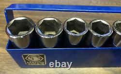 Matco 1/4 Drive 14 Piece Metric 6 Point Deep Chrome Socket Set Samd146ta