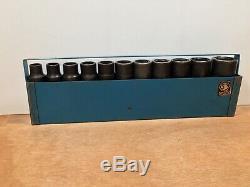 Matco Tools 11-piece 1/2-drive Deep Impact Socket Set Metric 6-point