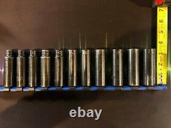 Matco Tools 11-piece 1/2-drive Deep Impact Socket Set Metric 6-point USA