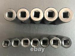 Matco Tools 12-pc 3/8-drive Deep Impact Socket Set Metric 6-point (1)