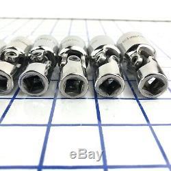Matco Tools 3/8 Drive 10mm-19mm 10pc Semi-Deep Metric 6 Point Swivel Socket Set