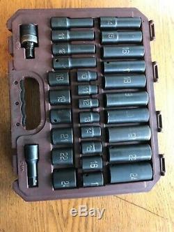Matco Tools SCPM306V 1/2 Drive ADV 30pc Metric 6 Point Standard & Deep Impact