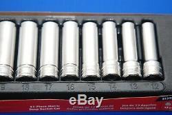 NEW Snap-On 13 Pc 1/2 Drive 6-Point Metric Deep Socket Set 313TSMYA SHIPS FREE