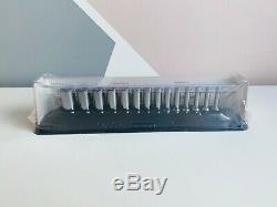 NEW Snap On 14-pc 1/4 6-Point Flank Drive Xtra Deep Socket Set 114YSTMMY