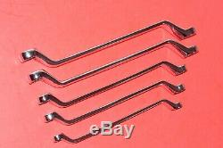 NEW Snap-On 5 Piece 12 Point Metric Flank Drive 60° Deep Offset Box Wrench Set