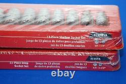 NEW Snap-On Tools 26 Piece 1/2 Drive 12-Point SAE Shallow & Deep Socket Set