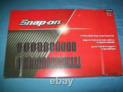 NEW Snap-on 1/2 drive 10 to 36 mm 6-point DEEP Impact Socket Set 325SIMM