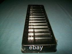 NEW Snap-on 1/2 drive 12 thru 24 mm 12-point DEEP Socket Set 313SMYA Sealed