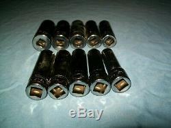 NEW Snap-on 1/2 drive 6-point DEEP socket 13 to 24 mm 313TSMYA PARTIAL Set
