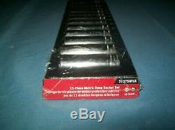 NEW Snap-on 1/2 drive 6-point DEEP socket SET 12 thru 24 mm 313TSMYA UNused