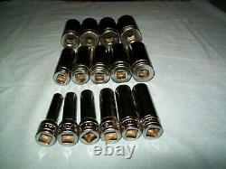 NEW Snap-on 1/2 drive 6-point Deep socket Set 3/8 thru 1 1/4 315TSYA