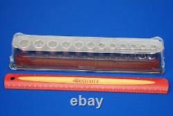 NEW Snap-on 12 Pc 3/8 Drive 6-Point Semi-Deep FDX Metric Socket Set 212YFSMSY