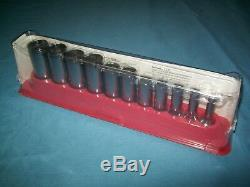 NEW Snap-on 3/8 drive 1/4 thru 7/8 6-point DEEP Socket Set 211SFSY SEALed