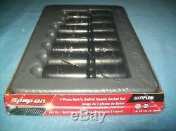 NEW Snap-on 3/8 drive 10 18 mm 6point DEEP IMPACT Swivel Socket Set 207IPLFM