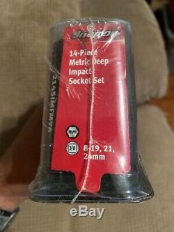NEW Snap-on 3/8 drive 8 to 24 mm 6-point DEEP Impact Socket Set 214SIMFMYA