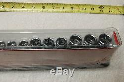 New Snap On 212sfsmy 3/8 Drive 12 Piece Deep 6 Point Metric Socket Set 8 To 19mm