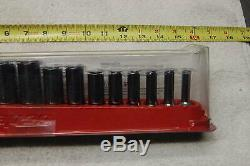 New Snap On 214ysfsy 14 Piece 3/8 Drive Fdx Deep 6 Point Sae Sockets 1/4 To 1
