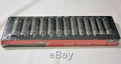 New Snap-on Tools 13 Pc 1/2 Drive 12-point Metric Flank Drive Deep Socket Set